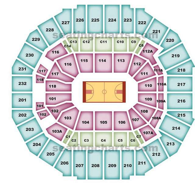 Memphis Grizzlies Seating Chart for FedEx Forum